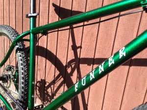 Metallic green frame